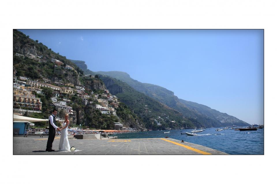 Matrimonio Spiaggia Positano : Matrimonio marie matt figlia positano marincanto belvedere cielo